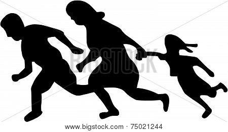 Running Family   Running Immigrants Sign