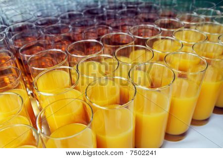 Glasses with Soft Drinks