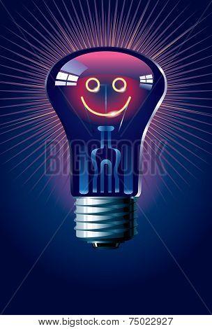 Smiling lamp
