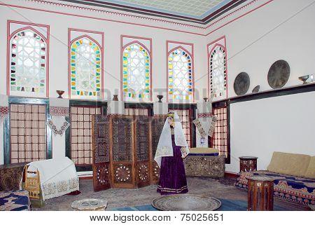 Bakhchisaray - circa September 2014: harem of Khan's Palace in Bakhchisaray circa September 2014