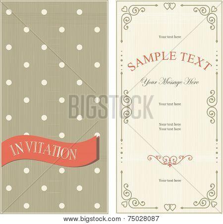 Set of invitation cards on vintage background