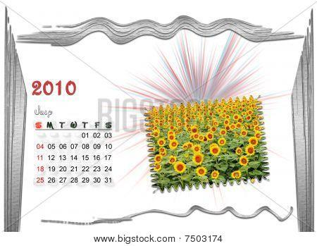 2010  Calendar july