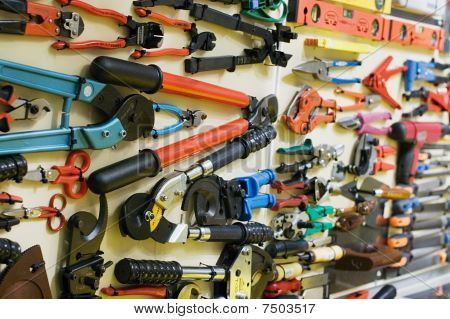 Set Of Various Building Tools
