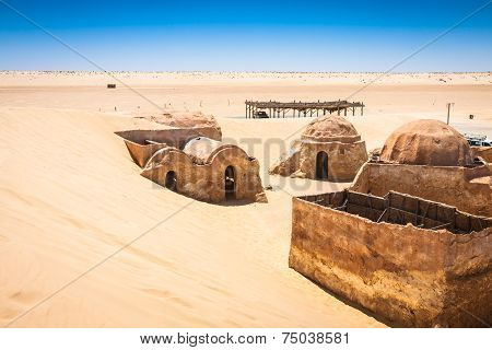 Nefta,Tunisia,August 15,2013:The Houses From Planet Tatouine - Star Wars Film Set