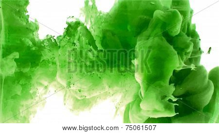 Green cloud of ink