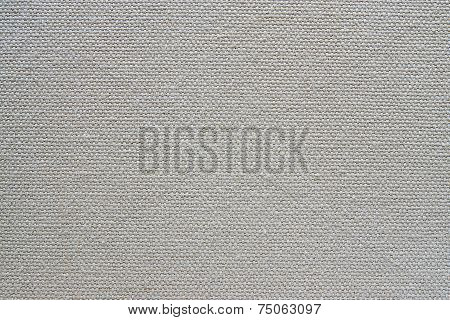 abstract texture of rough cotton fabric or canvas with drawing from fibers a cross crosswise for backgrounds of gray color poster