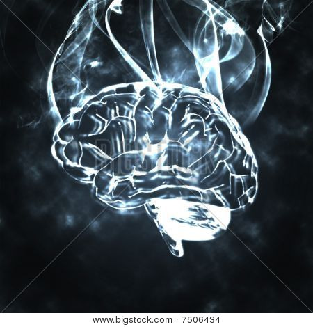 Humans Brain In The Smoke