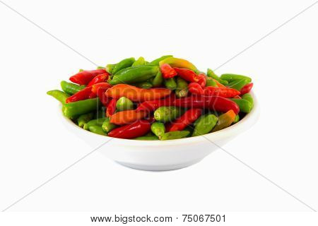 Small multiple color chilies