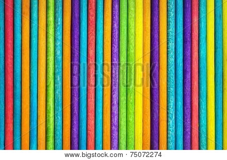 Vertical Wood Sticks