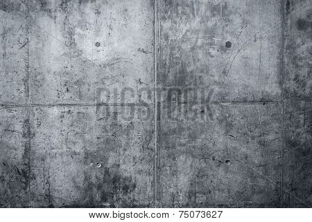 Grungy and smooth bare concrete wall for background poster