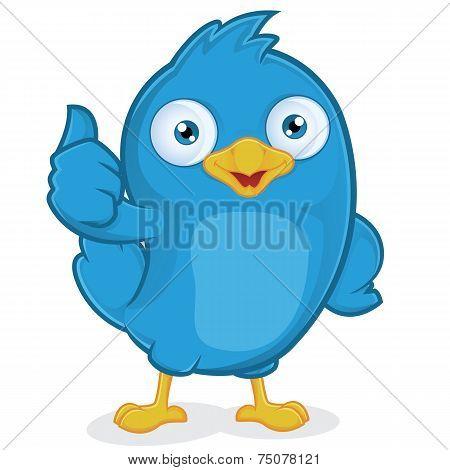 Blue Bird Giving Thumbs Up