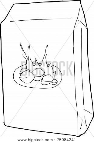 Outline Charcoal Bag