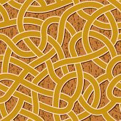 seamless brown abstract complex maze, labyrinth path background poster