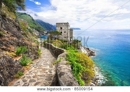 Monterosso al mare (Cinque terre) - scenic Ligurian coast, Italy poster