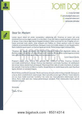Simplistic Cover Letter Design