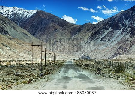 Road, Mountains Of Leh, Ladakh, Jammu And Kashmir, India