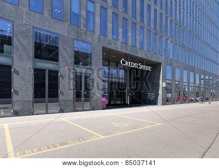 Credit Suisse Building Entrance