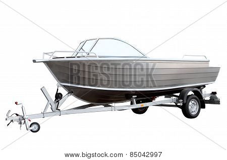 Easy Boat Loaded On The Trailer
