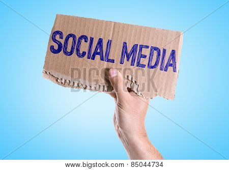 Social Media card with blue background