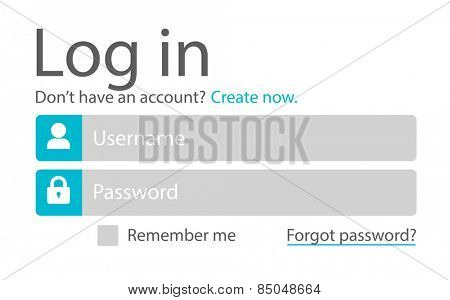 Log Sign In Username Password Web Page Concept