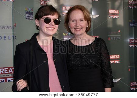 LOS ANGELES - FEB 20:  Charlotte Ritchie, Kate Burton at the GREAT British Film Reception Honoring The British Nominees Of The 87th Annual Academy Awards on February 20, 2015 in West Hollywood, CA