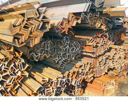 Steel l-beams and i-beams