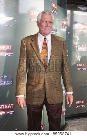LOS ANGELES - FEB 20:  George Lazenby at the GREAT British Film Reception Honoring The British Nominees Of The 87th Annual Academy Awards at a London Hotel on February 20, 2015 in West Hollywood, CA