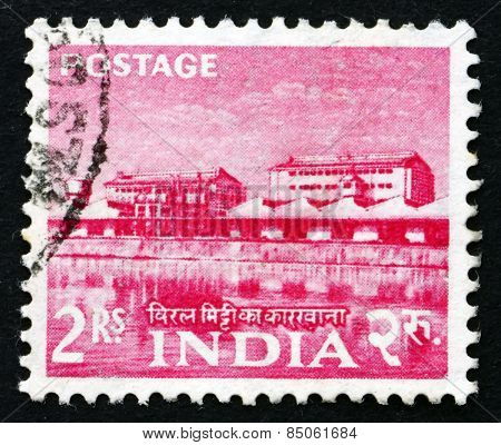 Postage Stamp India 1955 Rare Earth Factory