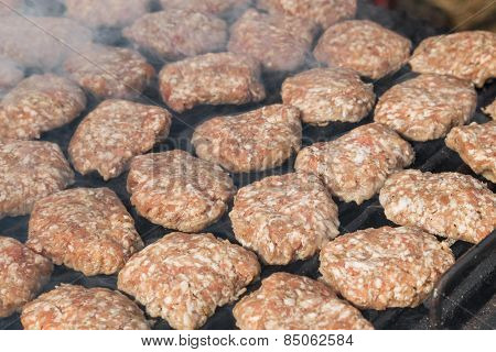 Meatballs On Grill