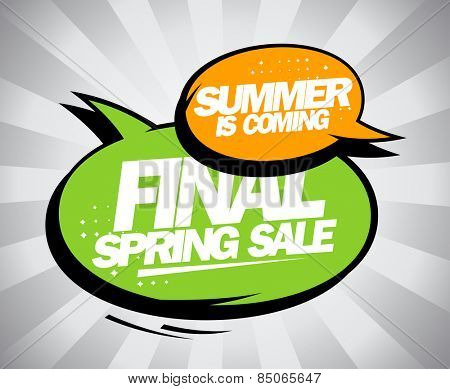 Final spring sale design, summer is coming.