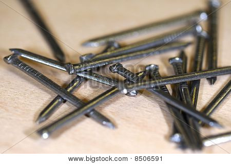 Woodworking Tools On Wood Background