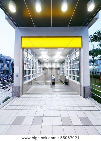 Entrance of underground