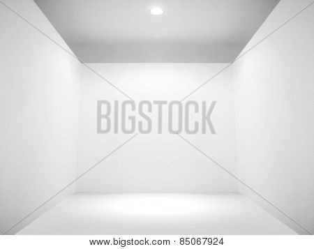 Empty space and blank wall