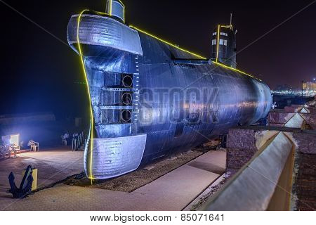 Submarine in display