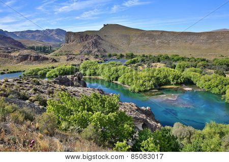 View of Limay river, Argentina