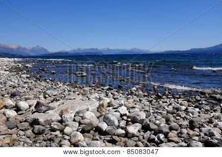 Nahuel Huapi lake and Mountains in background