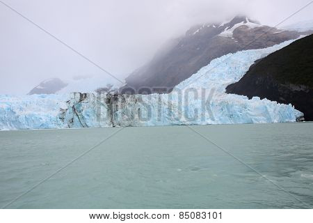 View of Spegazzini glacier from boat, Lago Argentino