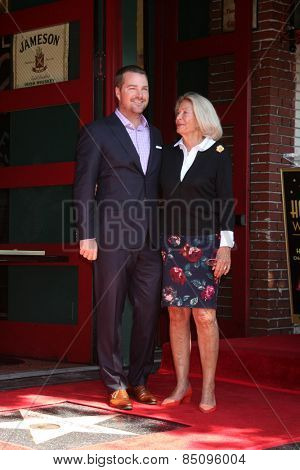 LOS ANGELES - MAR 5:  Chris O'Donnell, Mother Julie Ann Rohs von Brecht O'Donnell at the Chris O'Donnell Hollywood Walk of Fame Star Ceremony at the Hollywood Blvd on March 5, 2015 in Los Angeles, CA