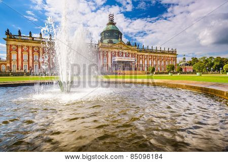 """The New Palace """"Neues Palais"""" in Potsdam, Germany. poster"""
