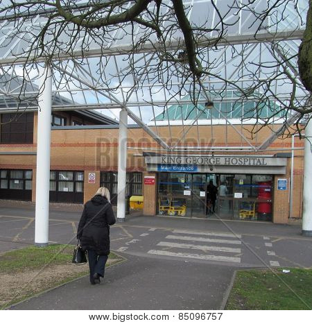 LONDON- 5 MARCH: Uk hospitals like the king george hospital in redbridge, london, are struggling to cope with emergency care this winter, because of a huge rise in demand. LONDON, 5 MARCH, 2015.