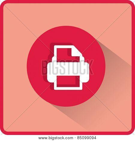 Flat Vector Printer Icon