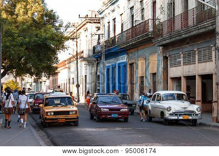 Matanzas, Cuba - January 31, 2008. Street In Matanzas, Cuba.