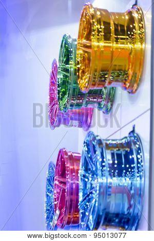 Blur magnesium alloy wheel or mag wheel or max wheels of Car
