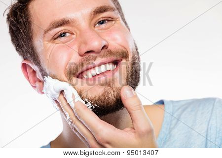 Man Preparing To Shave