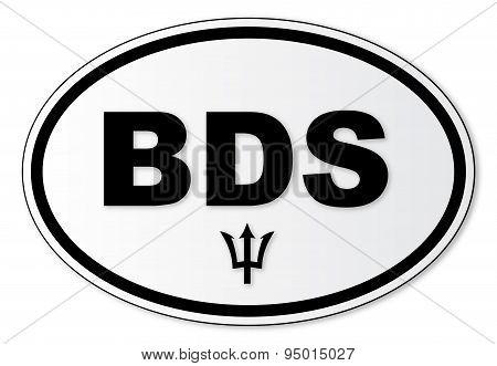 Barbados Bds Plate