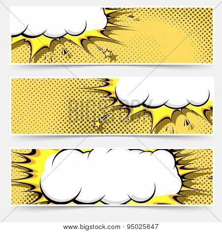 Pop-art Comic Book Style Web Flyer Layout