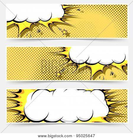 Pop-art Comic Book Style Web Flyer Layout