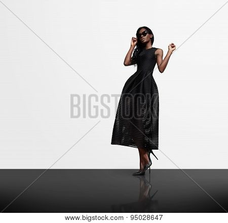 Woman Wearing Elegant Dress