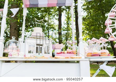 Dessert table for a party.