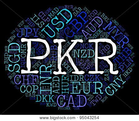 Pkr Currency Meaning Exchange Rate And Wordcloud poster